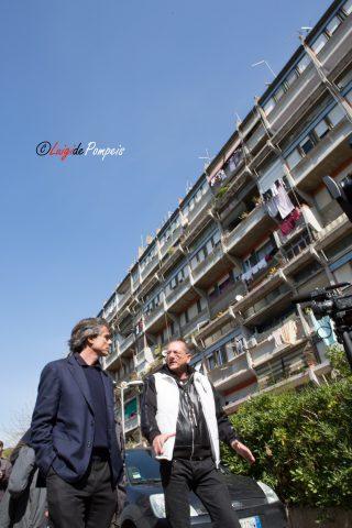 Alfio Marchini a Tor Sapienza per la Campagna elettorale