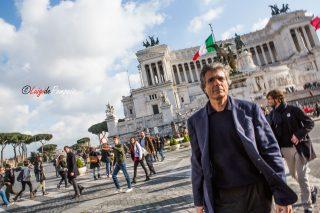 Alfio Marchini in centro storico a Roma per la Campagna elettorale